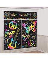 Neon Doodle Giant Scene Setter Wall Decorating Kit (5pc)