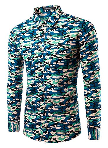 Mada-Men-Classical-Camouflage-Button-Down-Collar-Shirt-Casual-Shirts