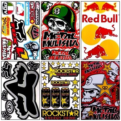 6 Rockstar Energy Drink Metal Mulisha Yamaha Motocross Racing Helmet Motorcycle Decal Sticker (Rockstar Energy Drink Motocross compare prices)