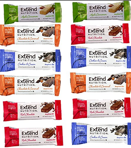 Extend Bar,15 Protein Bars, Variety Pack, High Protein Snack 1.41 oz. Bars (Pack of 15) (Quest Bar Sugar Free compare prices)