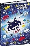 Quo Vadis - Space Invaders - Textagenda - Agenda Scolaire Journalier 12x17 cm - Année 2015-2016