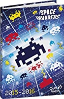 Quo Vadis 029703Q Agenda Scolaire Journalier Space Invaders Galaxy Année 2015 2016