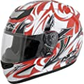 AFX FX-95 Full-Face Motorcycle Helmet Multi Red XXL