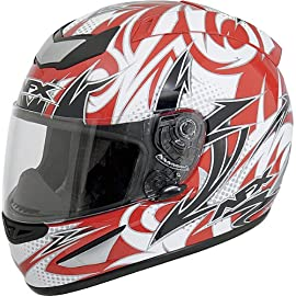 AFX FX-95 Full-Face Motorcycle Helmet Multi Red XL