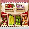 Molly Dolly Deluxe Fruit & Veg Wooden Market Stall Set