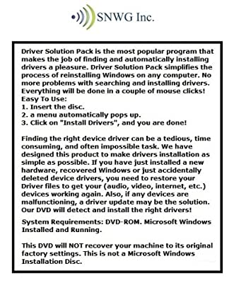Driver Solution Pack For Hp Pavilion Dv6 Entertainment Notebook PC Series Installs Fix Audio Video Chipset Wi-Fi Network/Lan USB Motherboard Drivers- Windows XP Vista 7 8 32/64 Bit DVD Disk