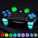eXtremeRate Multi-Colors Luminated D-pad L1 R1 R2 L2 Trigger Thumbsticks Home Face Buttons DTFS (DTF 2.0) LED Kit for PS4 CUH-ZCT2 Controller - 10 Colors Modes 7 Areas DIY Option Button Control (Color: Multi-Colors DTFS LED Kit (1))