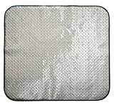 """Pitstop Furniture DPCM4750 Chrome 47"""" x 50"""" Diamond Plate Chair Mat by Pitstop Furniture"""