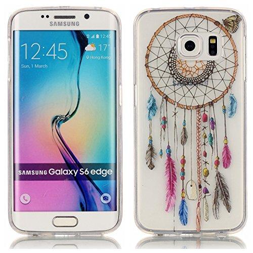 TUOTR Coque Housse Etui pour Samsung Galaxy S6 Edge Coque en Silicone,Samsung Galaxy S6 Edge Silicone Coque Housse Transparent Etui Gel Slim Case