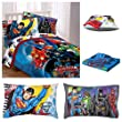 DC Comics Justice League Complete Reversible Twin Bedding Set - Comforter, Sheets & Pillow Case