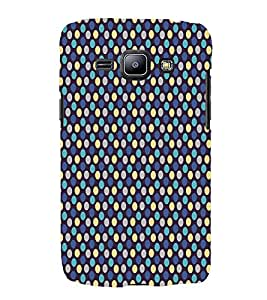 Blue Yellow Dots Pattern 3D Hard Polycarbonate Designer Back Case Cover for Samsung Galaxy J1 (2016) :: Samsung Galaxy J1 (2016) J120H