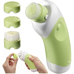 Body Essentials Deep Cleansing Facial Brush and Massager - Green