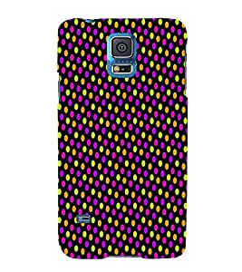 Florocent Dots 3D Hard Polycarbonate Designer Back Case Cover for Samsung Galaxy S5 Mini :: Samsung Galaxy S5 Mini G800F