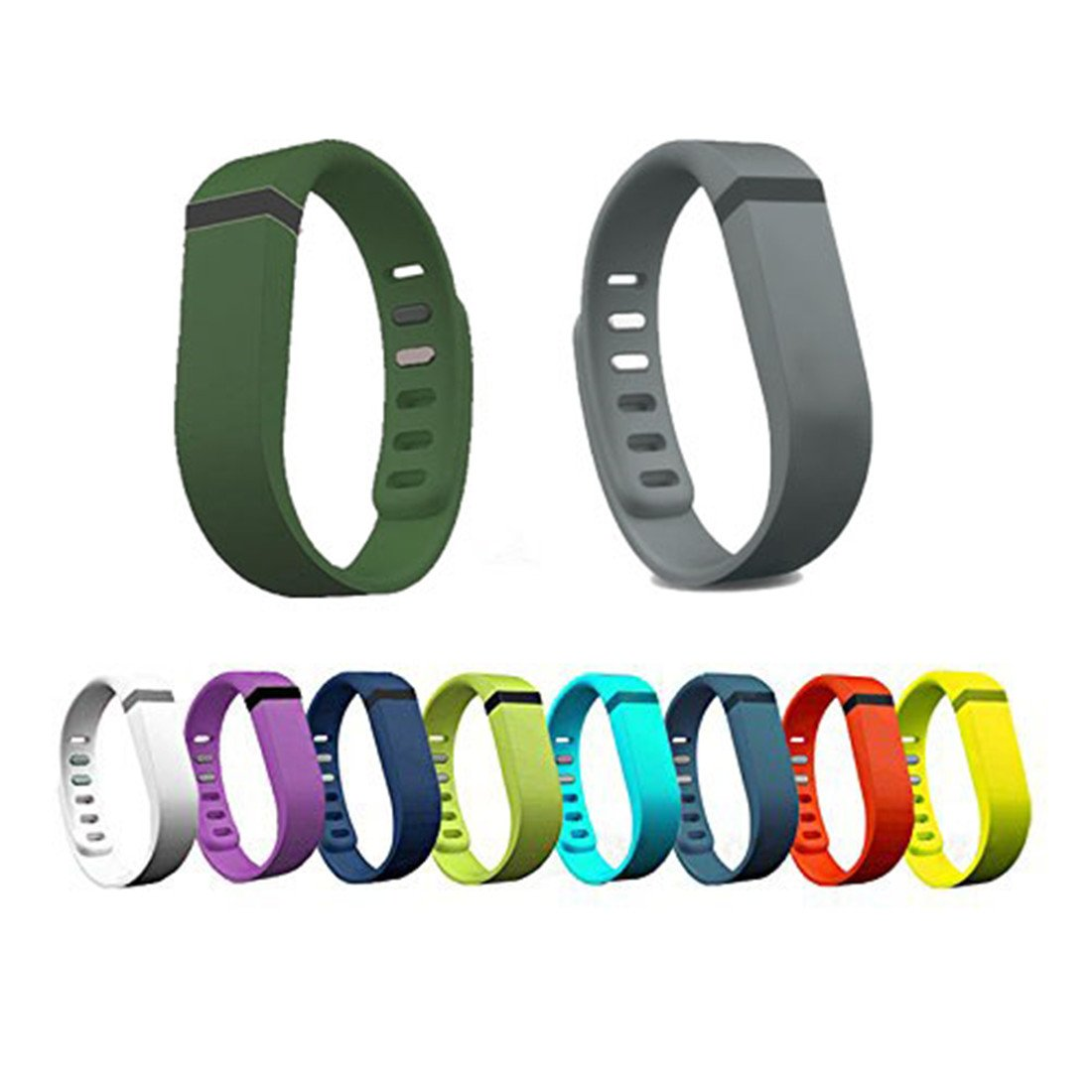 Zover Set Large L Replacement Bands with Clasps for Fitbit FLEX at Amazon.com