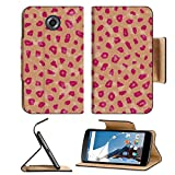 MSD Premium Motorola Google Nexus 6 Flip Pu Leather Wallet Case closeup of photo computer generated animal skins texture spots IMAGE 30240731