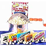 'Matinee Idol' Movie Night Candy Gift Basket and Popcorn Popper with Blockbuster Card