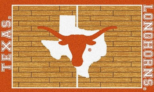 Gameday Rug TXCNCT310 Texas Longhorns Center Court 3 ft. x 5 ft. Fashion Area Rug