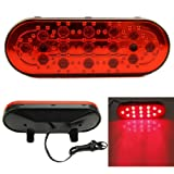 NNDA CO Universal 15 LED Car Rear Strobe Tail Brake DRL Stop Light Fog Flashing Lamp 12V (Color: Red)