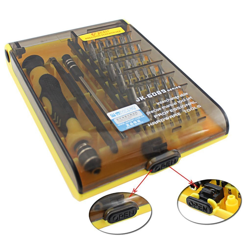 Esup 6089A 45 in 1 with 42 Bit Magnetic Driver Kit, Precision Screwdriver Set Cell Phone, Tablet, PC, Macbook, Electronics Repair Tool Kit - 1 Year Warranty