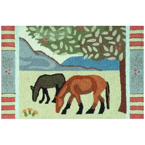 Jellybean Grazing Horses Indoor Outdoor Rug