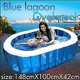 【2012年新製品】FIELDOOR 【全長1.5mのビッグサイズ】 ミディアムオーバルプール 148cm×100cm×42cm