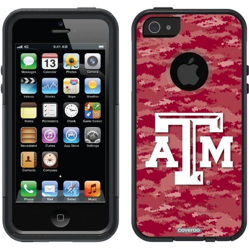 Best Price Texas A&M University Emblem on Camo design on a Black OtterBox® Commuter Series® Case for iPhone 5s / 5