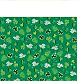 Creative Converting St. Patrick s Day Plastic Banquet Table Cover with Shamrock Party Design