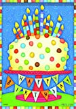 Carson Home Accents FlagTrends Classic Large Flag, Birthday Cake