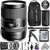 Tamron AFB016C700 16-300mm f 3.5-6.3 Di II VC PZD Macro Lens for CANON DSLR Cameras w Essential Photo and Travel Bundle