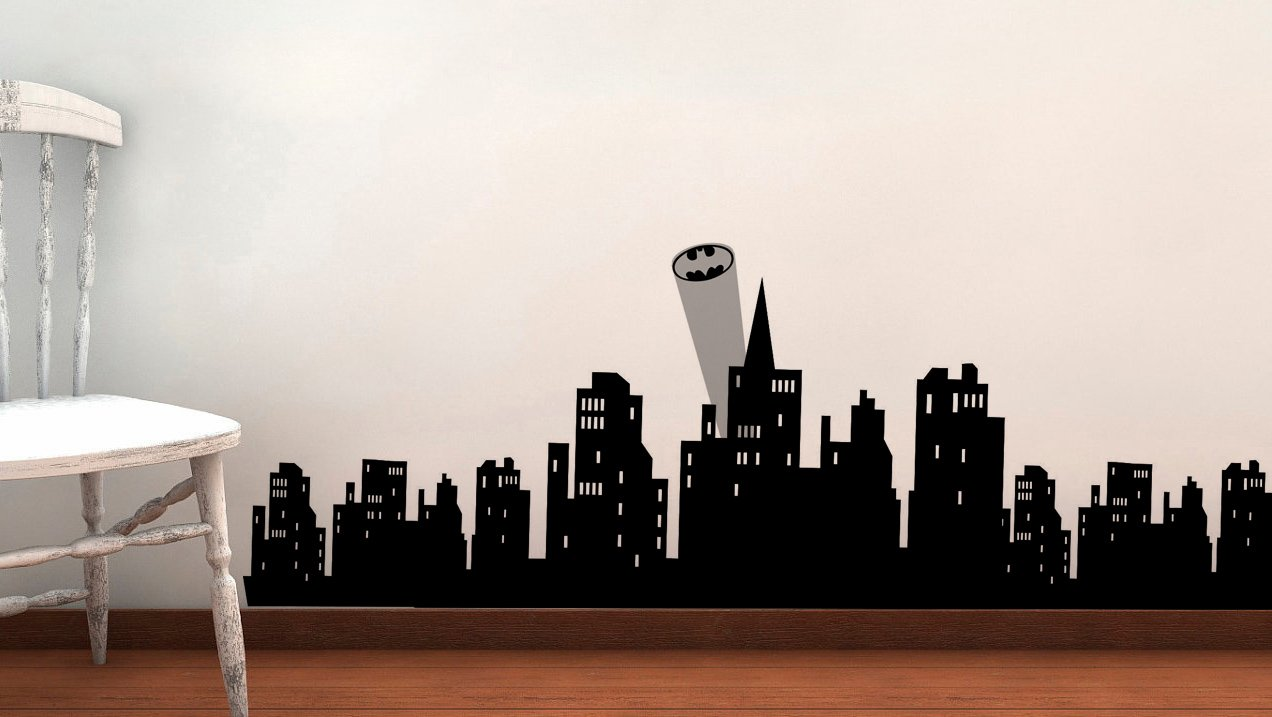 Gotham City Skyline Wallpaper Amazon.com Gotham Skyline