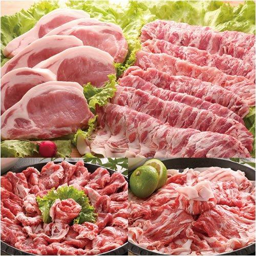 瀬戸のもち豚 たっぷりセット!(しゃぶしゃぶ肉1kg、ステーキ肉5枚)クール便送料込