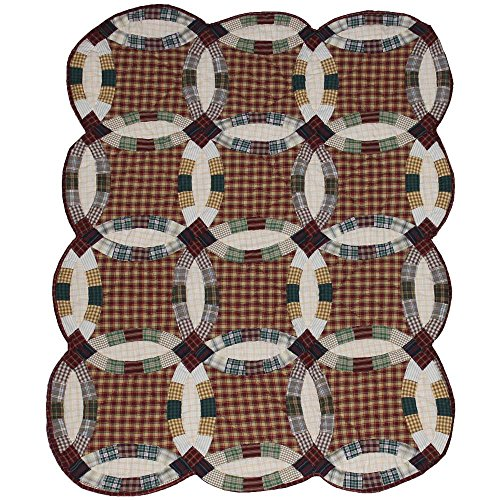 Patch Magic Woodland Double Wedding Ring Quilt Crib, 36 by 46-Inch - 1