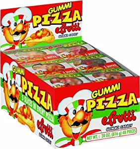 e.frutti Gummi Pizza (Pack of 48)
