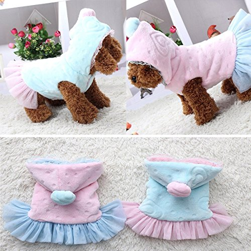 Good Warm Winter Small Dog Puppy Pet Clothes Apparel Princess Dress Size Xs-xxl