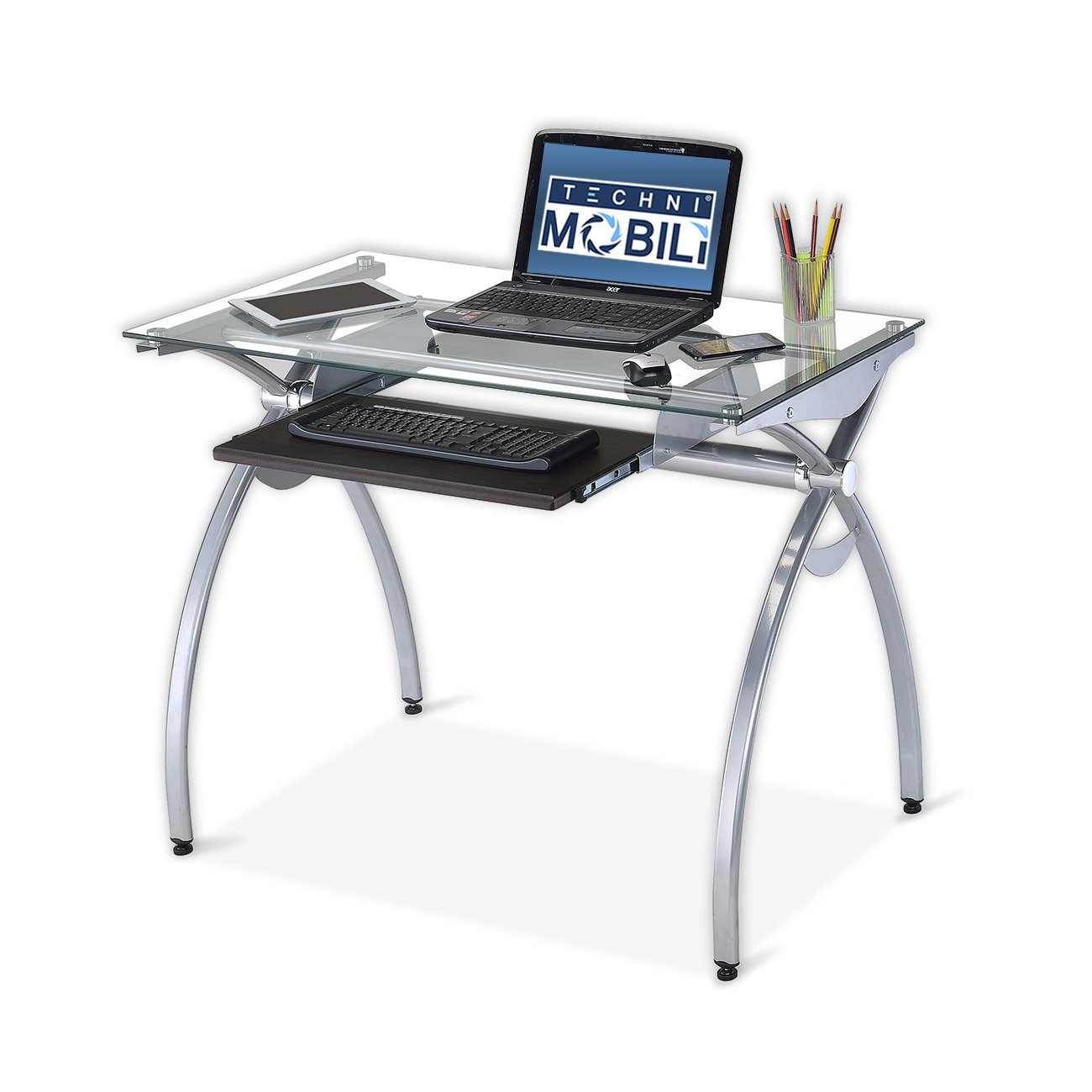 This computer desk for gaming offers a good amount of space and the price is very reasonable as well.