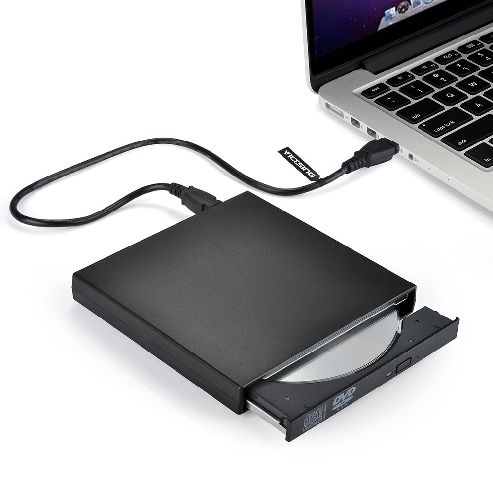 VicTsing® USB External DVD-Reader, Combo CD-RW Burner Drive Black (CD-RW)