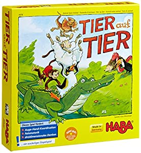 Haba 4478 Tier auf Tier - Juego infantil para apilar animales (en alemán) por Haba