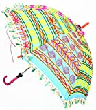 Handmade Embroidery Work Design Patio Hand Open Umbrella 24 x 28 Inches