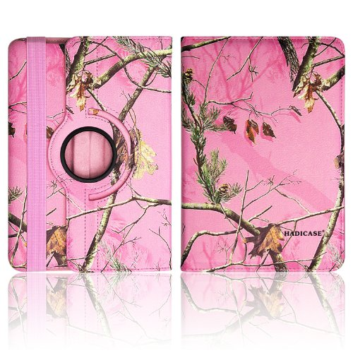 Kindle Fire Hdx 8.9 Leaves, Limbs, Trees Pink Hunter'S Camo Camouflage 360 Degree Rotating Smart Case Cover Stand