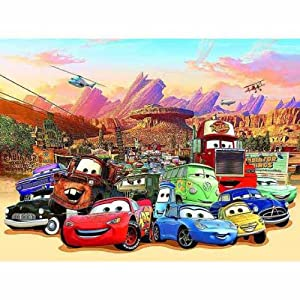 Disney cars wallpaper mural for Disney pixar cars mural wallpaper