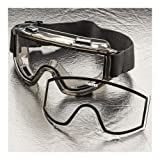 Elvex Visionaire Dual HC PC/Anti-Fog Acetate Lens, Extra Wide Adjustable Fabric Strap, Smoke Frame, Clear thumbnail