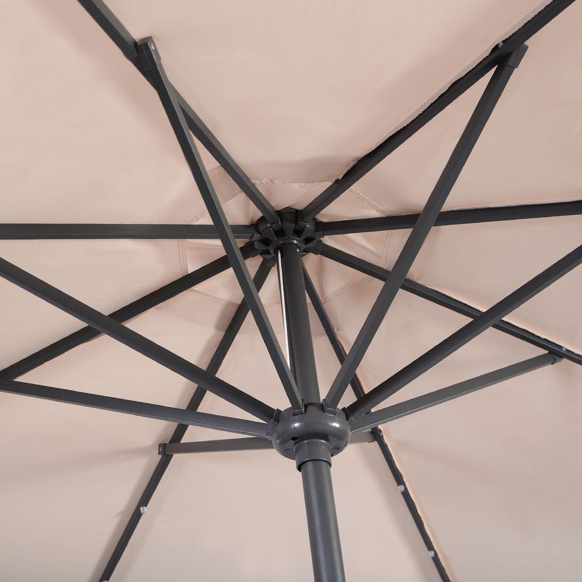 Giantex 10FT Patio Solar Umbrella LED Patio Market Steel Tilt W/ Crank Outdoor New