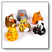 Zoo Theme Rubber Ducks
