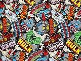 FAT QUARTER MARVEL COMICS CHARACTER SUPERHEROS cotton fabric. hulk marvel 1