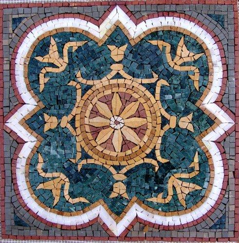 16x16 Accent Marble Mosaic Art Tile Home Decor Insert