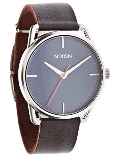 Nixon Unisex-Armbanduhr Mellor Analog Quarz Leder A129879-00