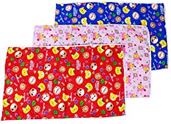 TAG Products Baby Waterproof Sheets Plastic & Cotton Foam Cushioned Sleeping Mat - Set of 3 - Size : L
