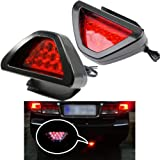 Keeping 2PCS/set 12LED Car Rear Tail Lamp Universal F1 Style Brake Stop Light Fog Lamp Bulbs