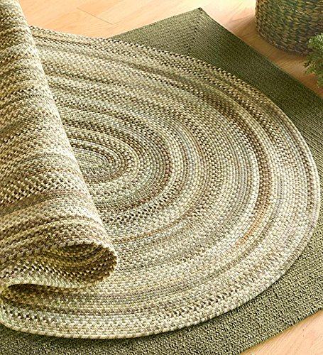 4' x 6' American-Made Oval Bear Creek Braided Wool And Nylon Blend Rug