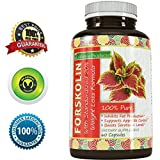 Pure Forskolin Extract for Weight Loss - Fat Burning Supplement for Women and Men - Control Appetite - Boost Metabolism - Increase Energy - Improve Immune System with Powerful Antioxidant Vitamins